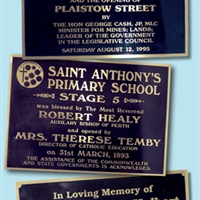 REVERSE BRASS PLAQUES