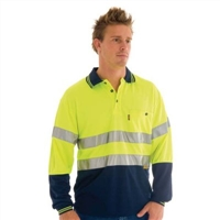- Hivis D/N Cool Breathe Polo W/3M 8906 Ref Tape > Long Sleeve