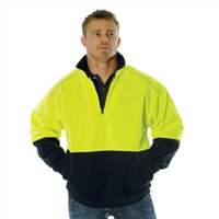 - Hivis Two Tone 1/2 Zip Reflective Piping Sweat Shirt